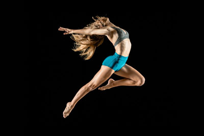 Dancer leaping